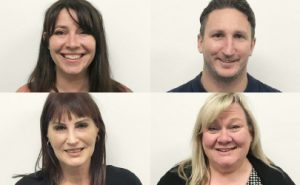 YourPlace Housing's Services Team: Angela, Justin, Kathryn and Donna