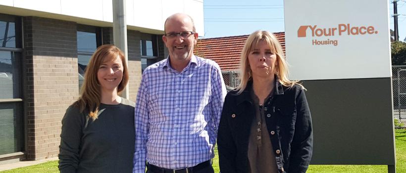 Finance Team: Rob, Jess and Trudi